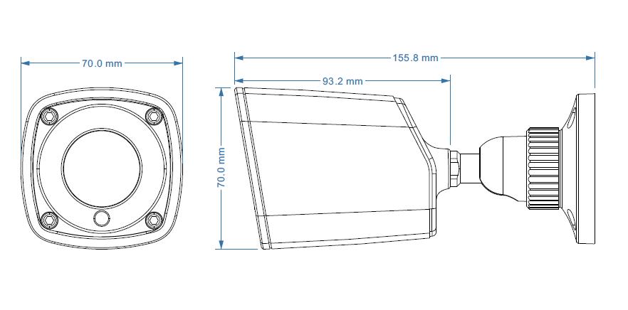 2 Mp Super Starlight IP-видеокамера TVT TD-9421S1H (D/PE/IR1) (3.6 мм)