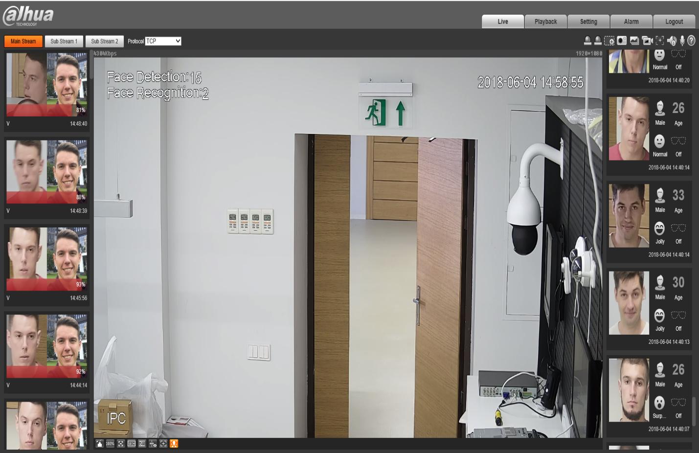 Комплект видеонаблюдения распознавания лиц и персональных особенностей людей с регистратором