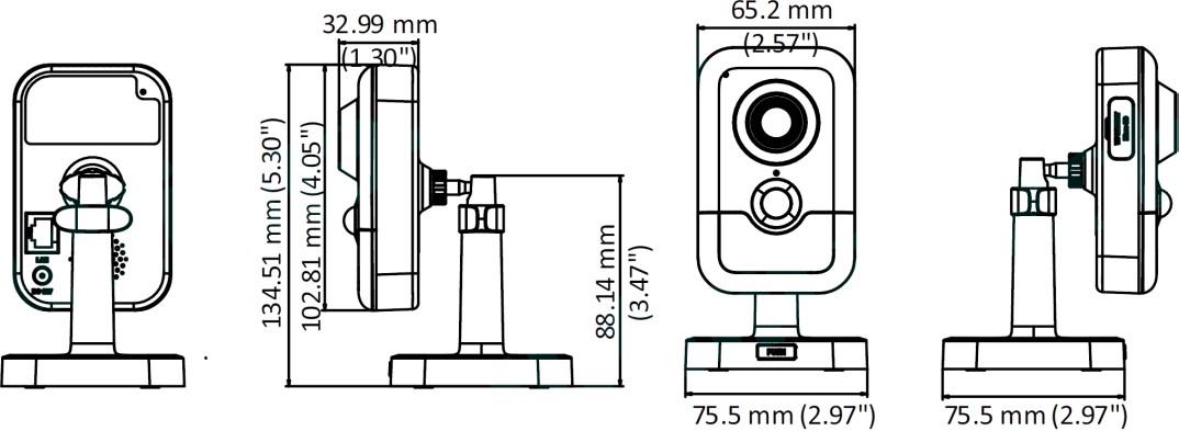 2 Mp IP Wi-Fi камера відеоспостереження Hikvision DS-2CD2421G0-IDW (2.8 мм)