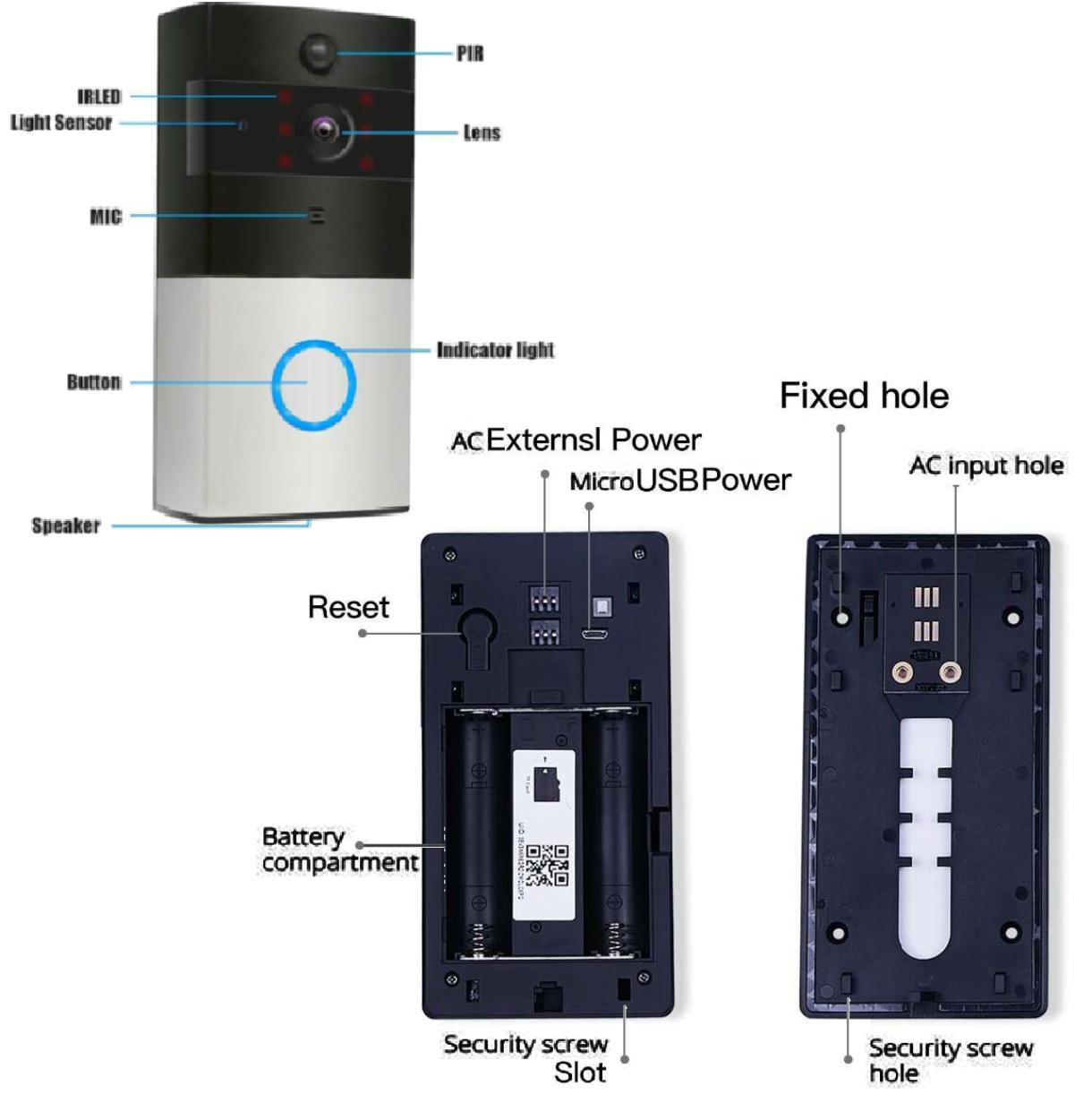 WI-FI IP видео-дверной звонок LightVision VLC-01IVP