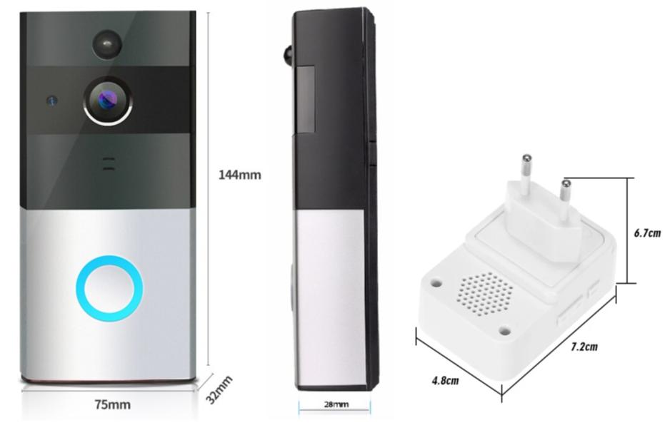 WI-FI IP видео-дверной звонок LightVision VLC-01IVP (Silver)