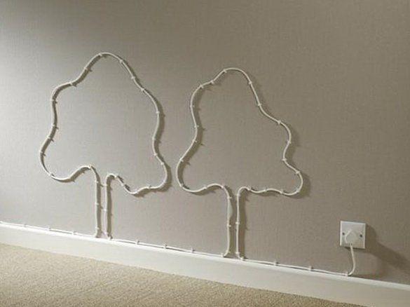 Крепление кабеля на стену