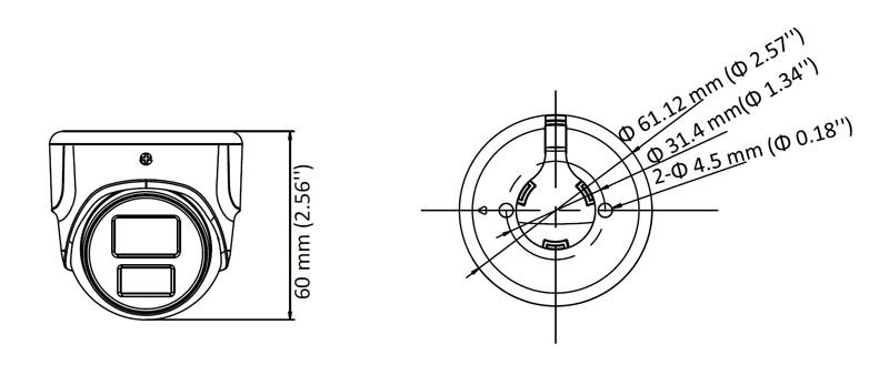 2 Мп антивандальна МHD міні камера Hikvision DS-2CE70D0T-ITMF (2.8 мм)