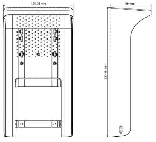 Захисний козирок Hikvision DS-KAB671-S для терміналів серій DS-K1T607/671