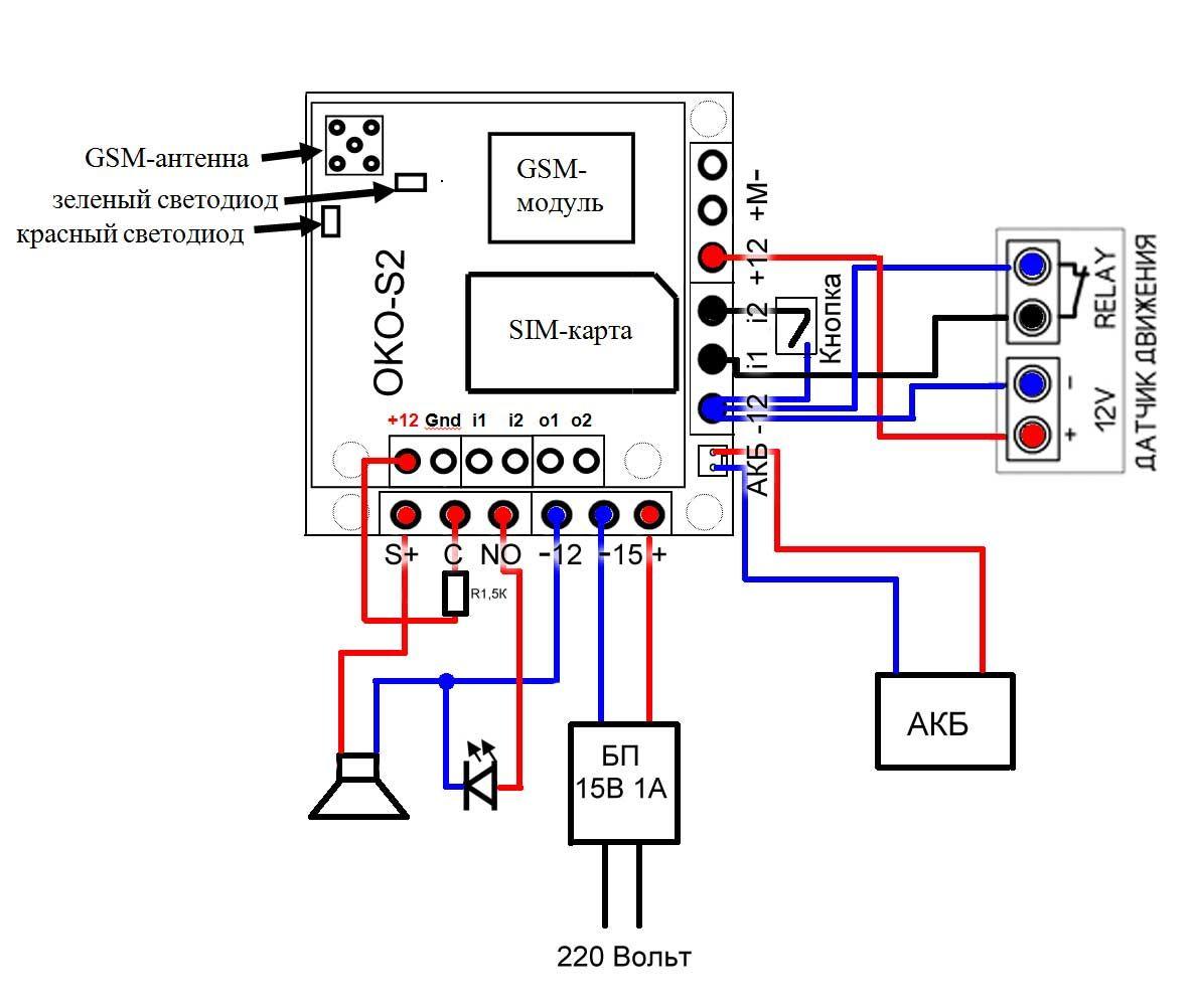 Схема подключения oko-S2