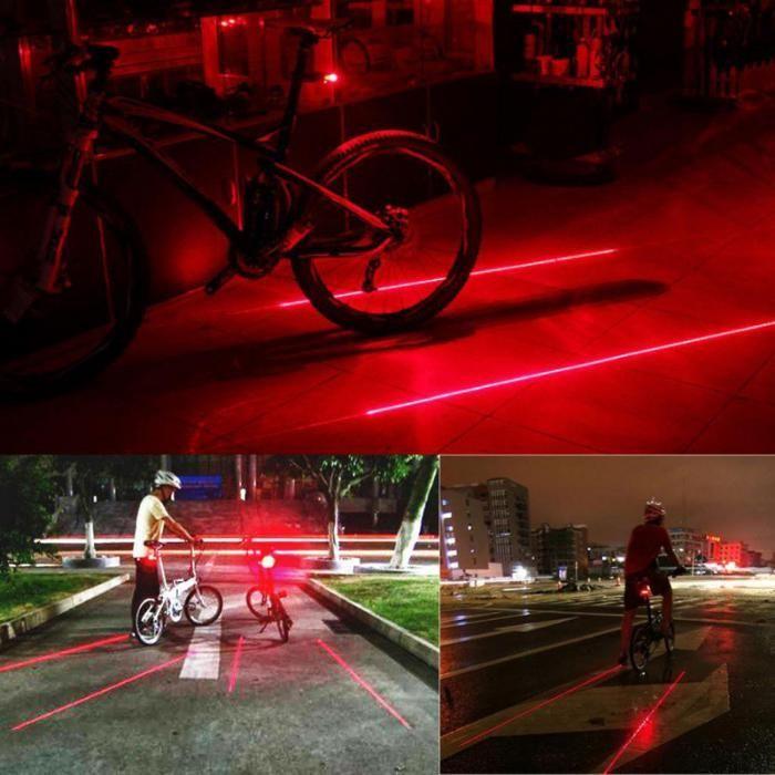 Велофара с лазером