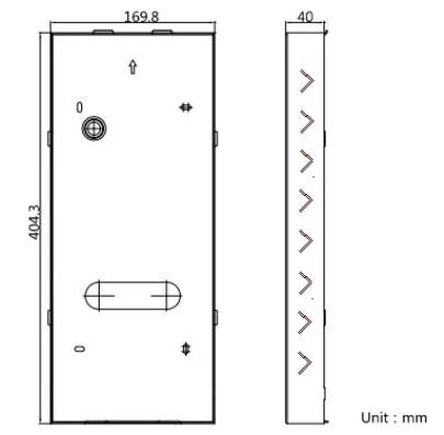 Монтажное основание Hikvision DS-KABD9613 вызывной панели DS-KD9613 для врезного монтажа
