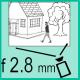 Объектив с фокусным расстоянием 2.8 мм