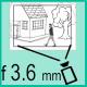 Объектив с фокусным расстоянием 3.6 мм