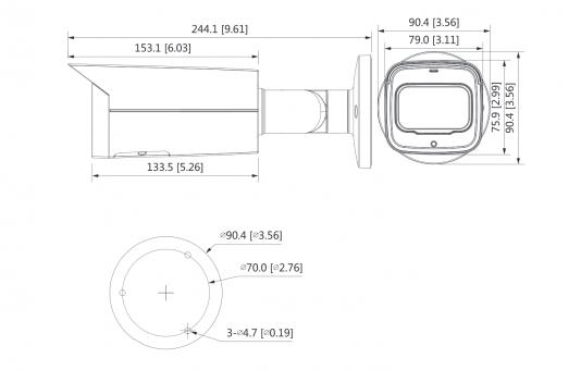 Zoom Starlight IP камера Dahua DH-IPC-HFW2231TP-ZS-S2 2 Mp (2.7 - 13.5 мм)