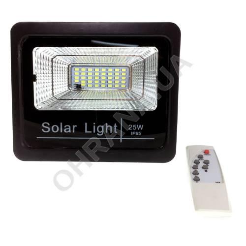 Фото Прожектор светодиодный на солнечной батарее LED NEOMAX 25W с пультом