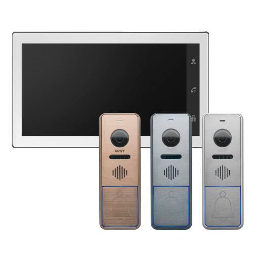 Фото Акція! Відеодомофон AVD-1040 Wi-Fi White + панель виклику ARNY AVP-NG420 1MPX