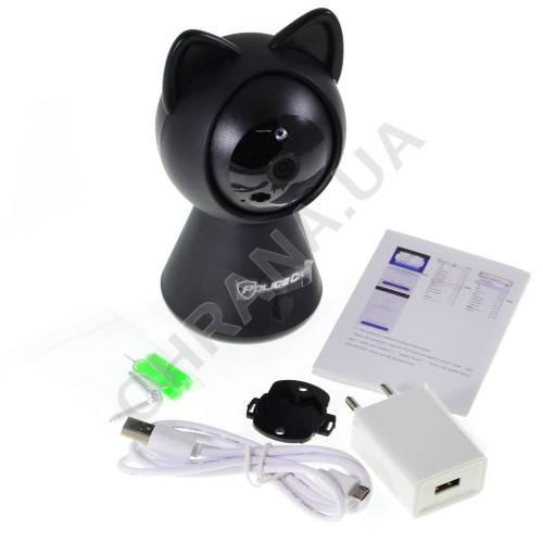 Фото 2 Мп IP Wi-Fi видеокамера IPC-6025 Cat Black (2.8 мм)