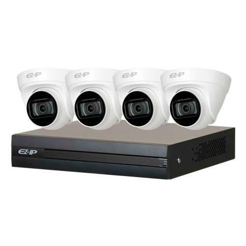 Фото ЄZ-IP комплект Dahua 4 × 2МП камери + реєстратор (EZIP-KIT/NVR1B04HC-4P/E/4-T1B20)