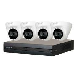 Фото 1 ЄZ-IP комплект Dahua 4 × 2МП камери + реєстратор (EZIP-KIT/NVR1B04HC-4P/E/4-T1B20)