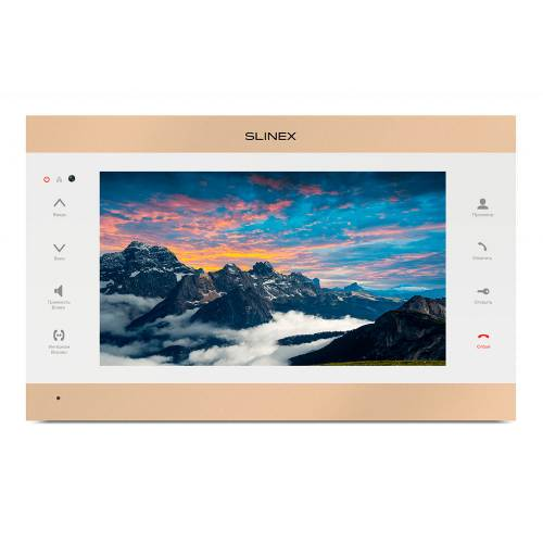 Фото Wi-Fi IP видеодомофон Slinex SL-10IPTHD золото-белый