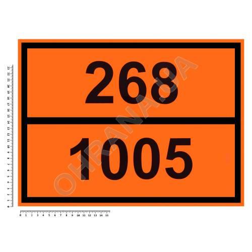 Фото Наклейка предупреждающая «Аммиак безводный»