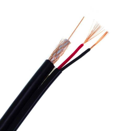Фото Комбинированный кабель Dialan Econom RG59+2х0,5 CCA черный