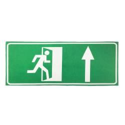"""Фото 1 Наклейка сповіщувача """"Сержант"""": """"Напрямок до евакуаційного виходу прямо"""""""