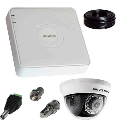 Фото 2 Мп Комплект Full-HD відеоспостереження Hikvision (1 внутр. камера)