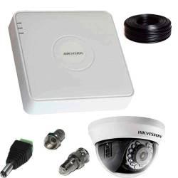 Фото 1 2 Мп Комплект Full-HD відеоспостереження Hikvision (1 внутр. камера)