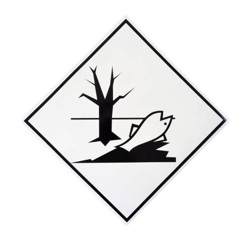 Фото Наклейка предупреждающая «Вещество, опасное для окружающей среды»