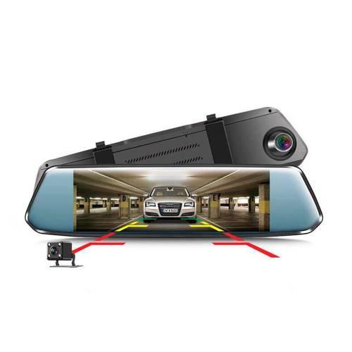 """Фото 7"""" Зеркало регистратор + камера заднего вида 1080P"""