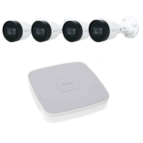 Фото Комплект відеоспостереження Dahua на 4 IP камери 2Mp з живленням по PoE