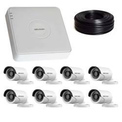 Фото 1 1 Мп Комплект видеонаблюдения DS-7108HQHI-K1/DS-2CE16C0T-IRF