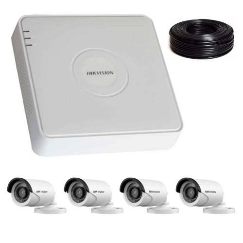 Фото 2 Мп Комплект видеонаблюдения DS-7104HQHI-K1/DS-2CE16D0T-IRF