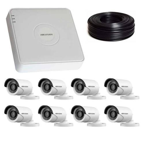 Фото 2 Мп Комплект видеонаблюдения DS-7108HQHI-K1/DS-2CE16D0T-IRF