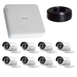 Фото 1 2 Мп Комплект видеонаблюдения DS-7108HQHI-K1/DS-2CE16D0T-IRF
