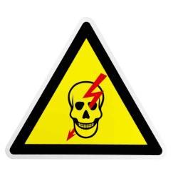Фото 1 Табличка (Опасно, высокое напряжение) большая