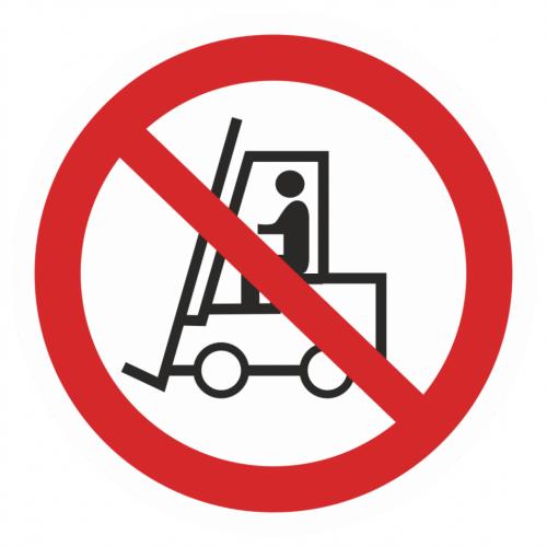 Фото Наклейка запрещающая (Запрещается движение средств напольного транспорта)
