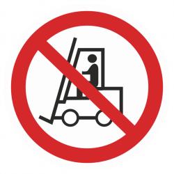 Фото 1 Наклейка запрещающая (Запрещается движение средств напольного транспорта)