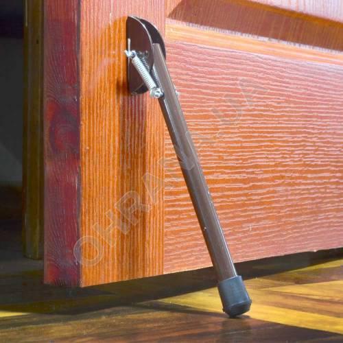 Фото Дверной упор откидной 14х220 коричневый