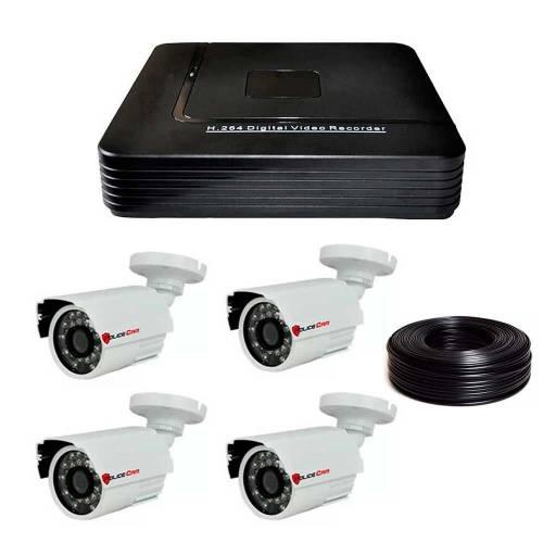Фото 1 Мп Комплект видеонаблюдения DVR-1004AHD/PC-453AHD1MP