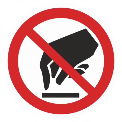 Фото Наклейка запрещающая (Запрещается прикасаться. Опасно)