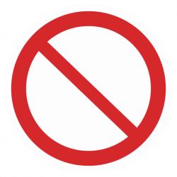 Фото 1 Наклейка запрещающая (Запрещение)