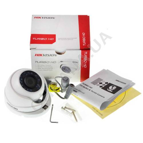 Фото 2 Mp TVI/AHD/CVI/CVBS Відеокамера Hikvision DS-2CE56D0T-IRMF (3.6 мм)