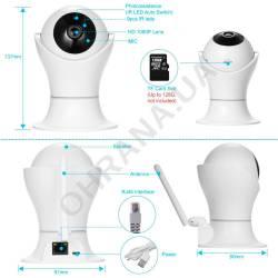Фото 7 2 Mp IP Wi-Fi поворотная видеокамера Light Vision VLC-05ID (2.5 мм)