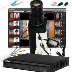 Фото 1 Комплект видеонаблюдения распознавания лиц и персональных особенностей людей с регистратором