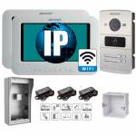 Фото IP комплект 2 Wi-Fi видеодомофона DS-KH6310-W + двухабонентская DS-KV8202-IM