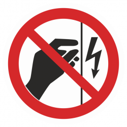 Фото 1 Наклейка запрещающая (Запрещается прикасаться. Корпус под напряжением)