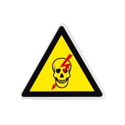 Фото 1 Табличка (Опасно, высокое напряжение) маленькая