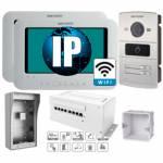 Фото IP комплект 2 WiFi видеодомофона DS-KH6310-W + двухабонентская DS-KV8202-IM + PoE